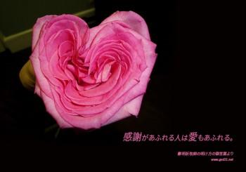感謝が溢れる人は 愛も溢れる
